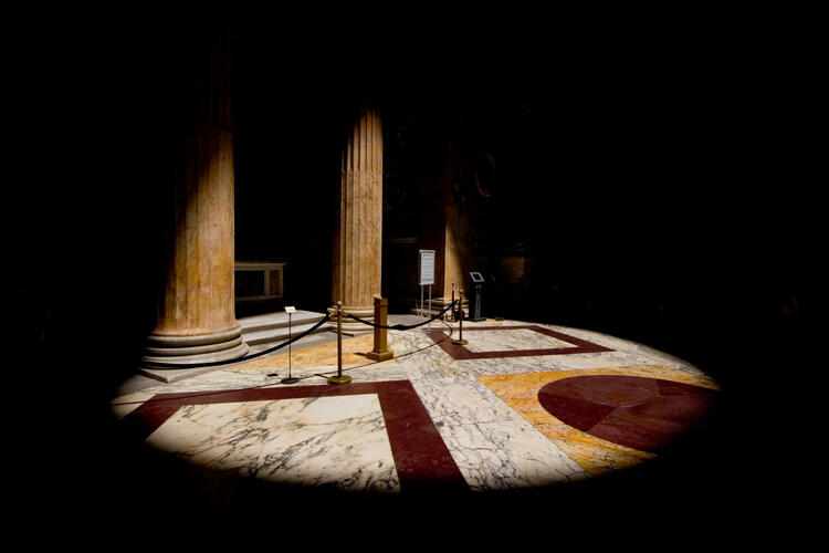 Photograph of Pantheon floor
