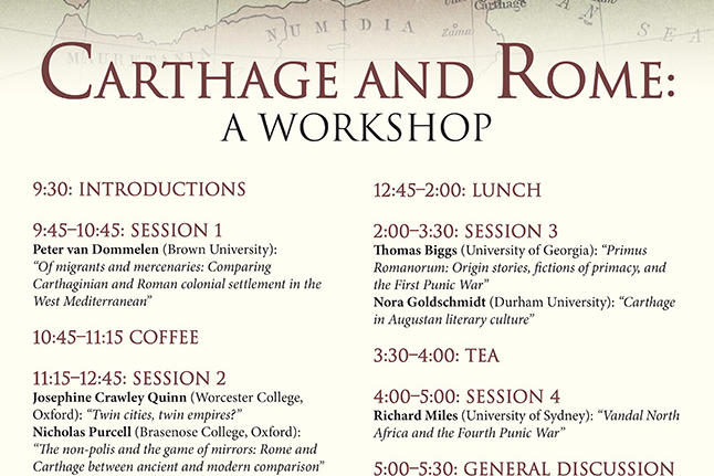 Carthage and Rome workshop poster