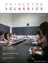 Newsletter cover of students seated in classroom